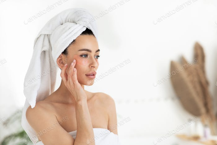 Treatment and restoration of sensitive skin, anti wrinkle under eyes and anti-aging care