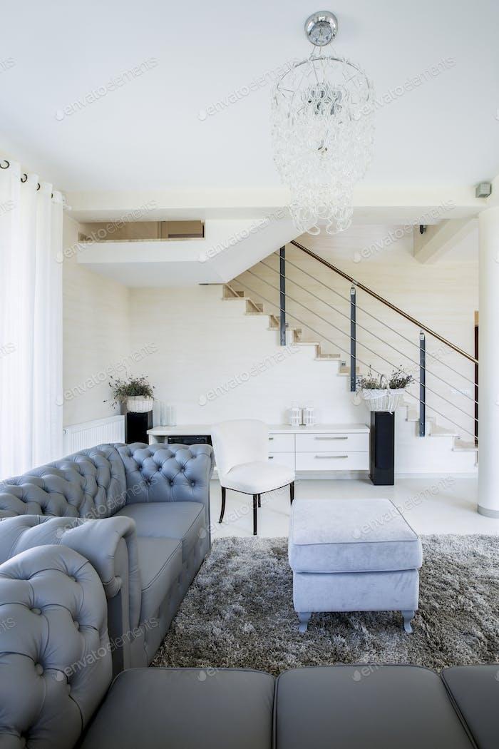 Luxurious interior in apartment