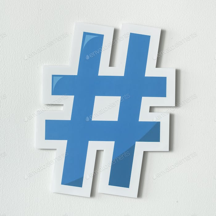 Hashtag digital media feed icon