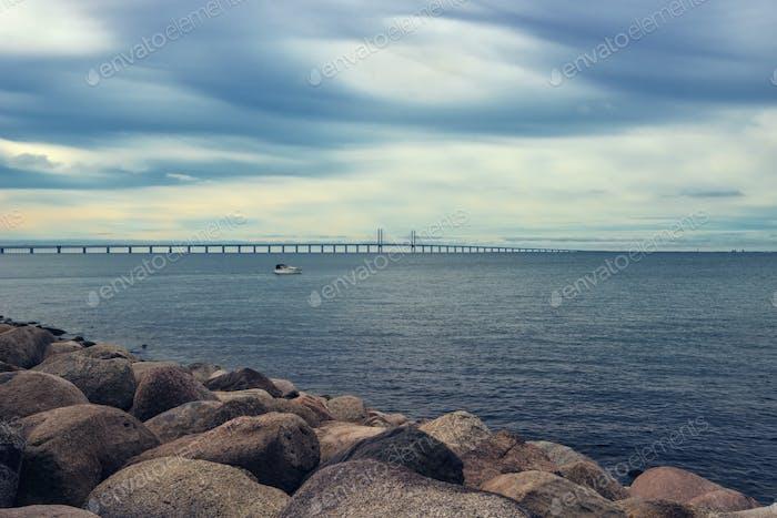 Felsen, Meer und Oresundbrücke