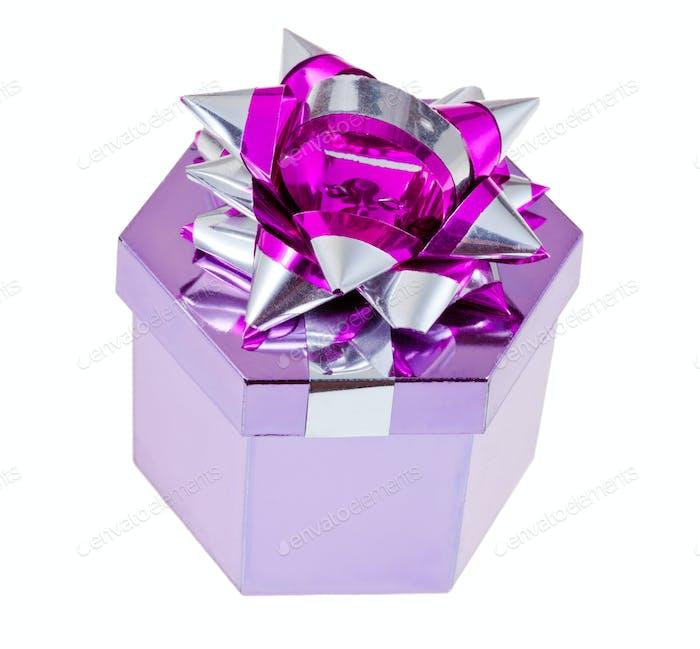 shiny foil gift box