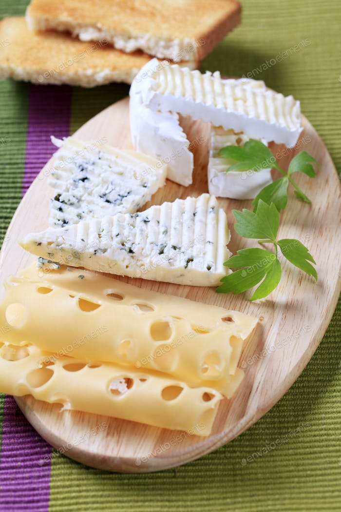 Variety of cheeses