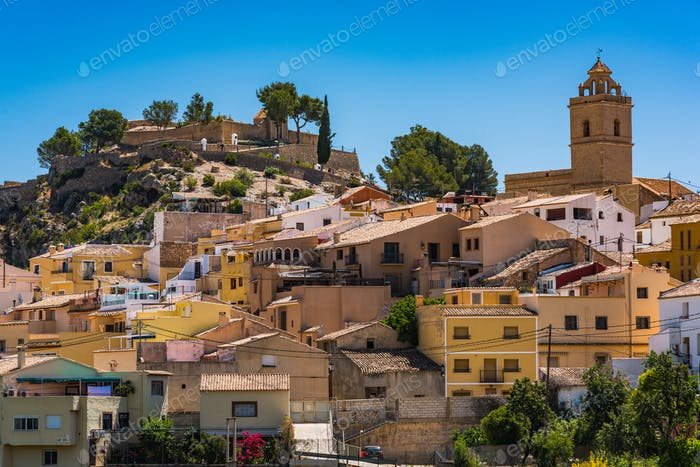 Polop village on hill top, Alicante,Spain