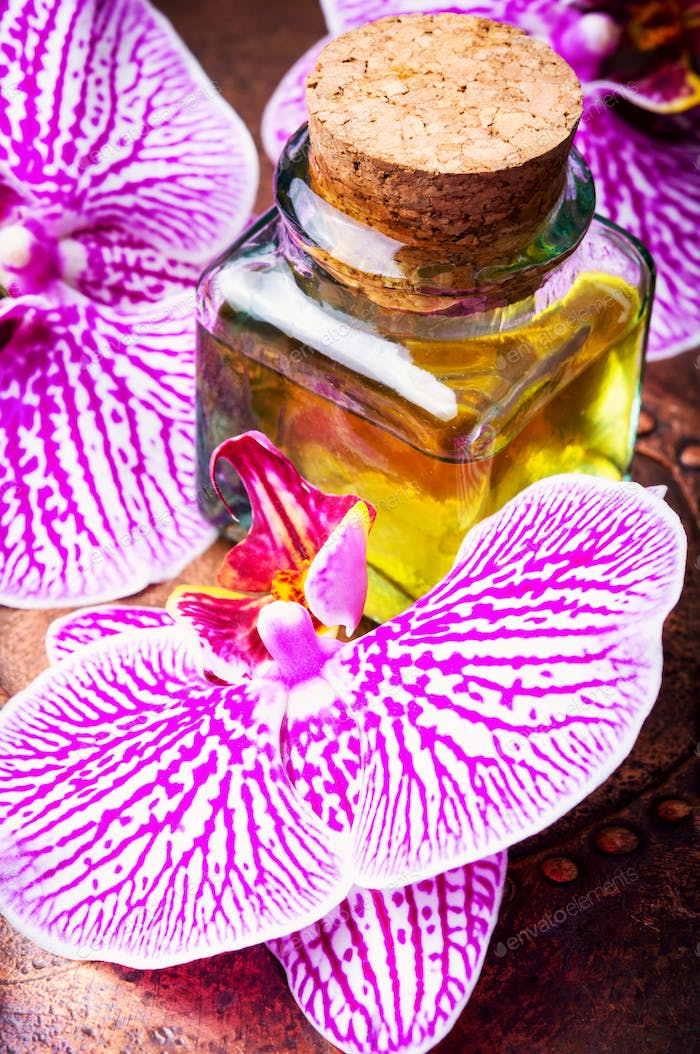 Extraction of flowers orchid