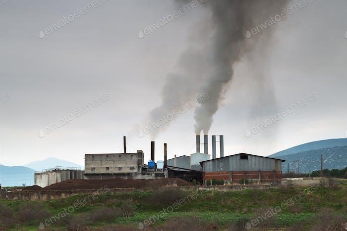 Luftverschmutzung aus einer Fabrik