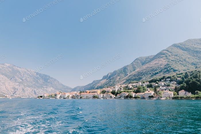 Beautiful bay with mountains