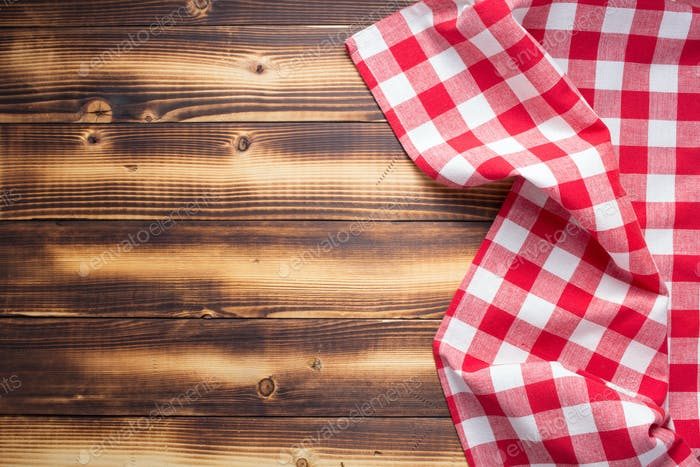 checked cloth napkin or tablecloth