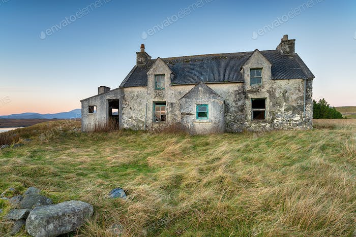 Empty house on the Isle of Lewis