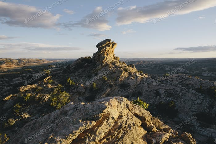 Rock formations and summit of Comb Ridge in Bears Ears National Monument, Utah. A new national