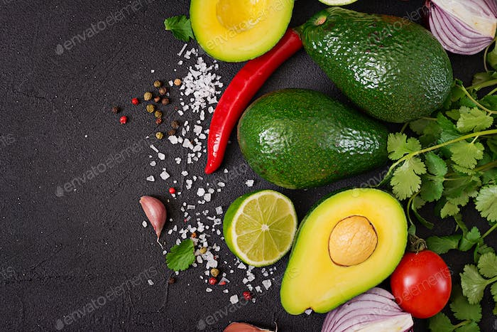 Guacamole sauce ingredients