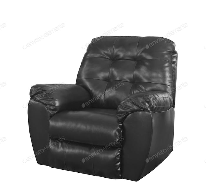 black luxury chair