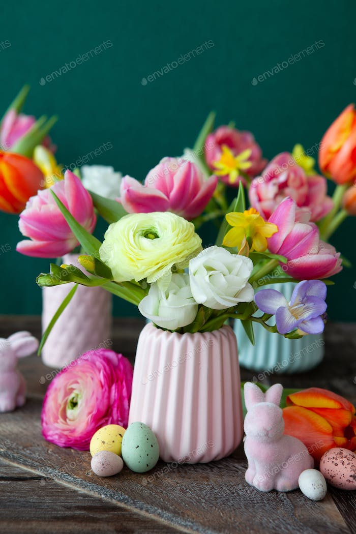 Cheerful spring flowers