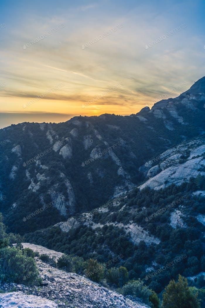 Montserrat mountains scenery