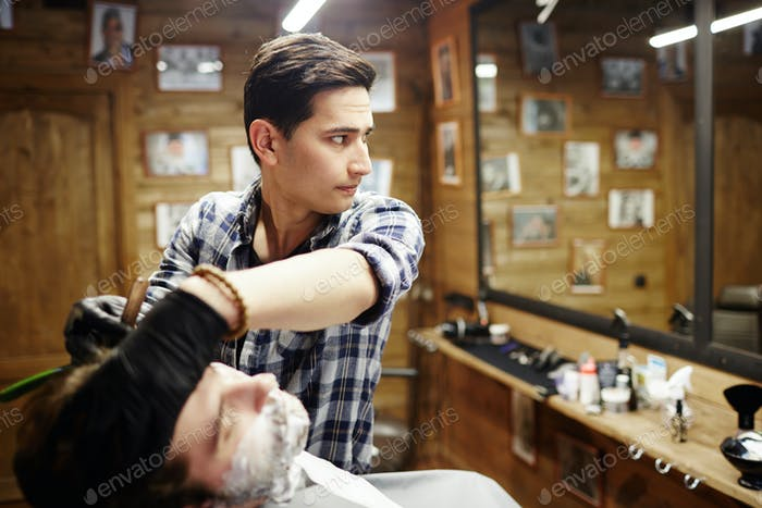 Self-employed barber
