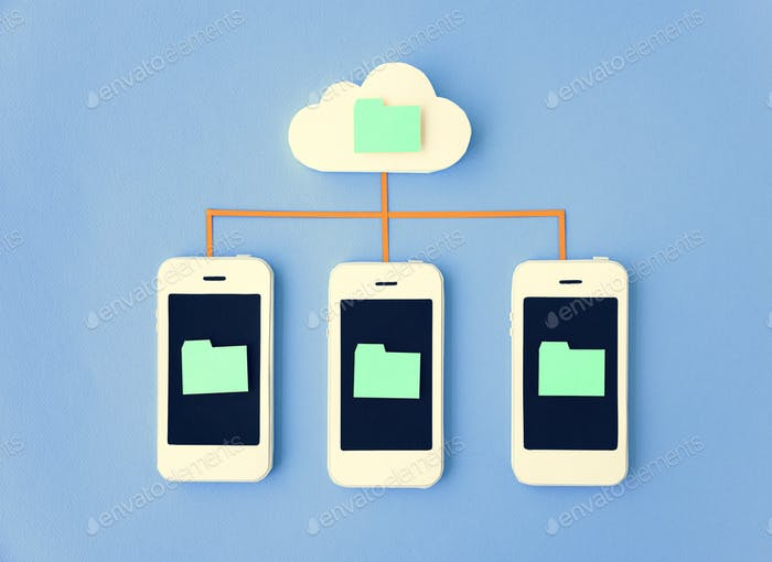 Telecommunication Digital Device Networking Concept