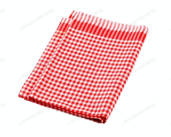 Красное и белое столовое белье