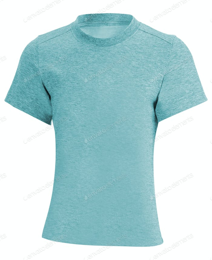 blue textile t-shirt isolated on white