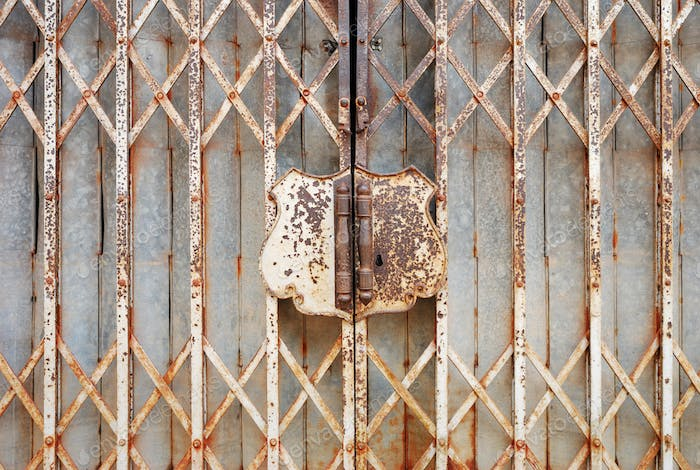 Rusty steel door