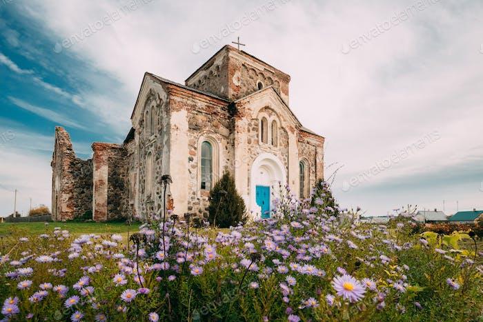 Begoml, Region Witsebsk, Weißrussland. Alte Ruinen der Allerheiligen Kirche