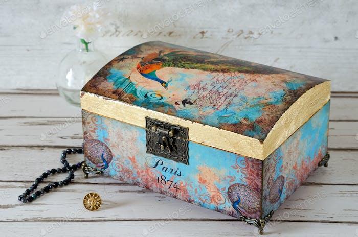 Decoupaged Jeqwellery Box