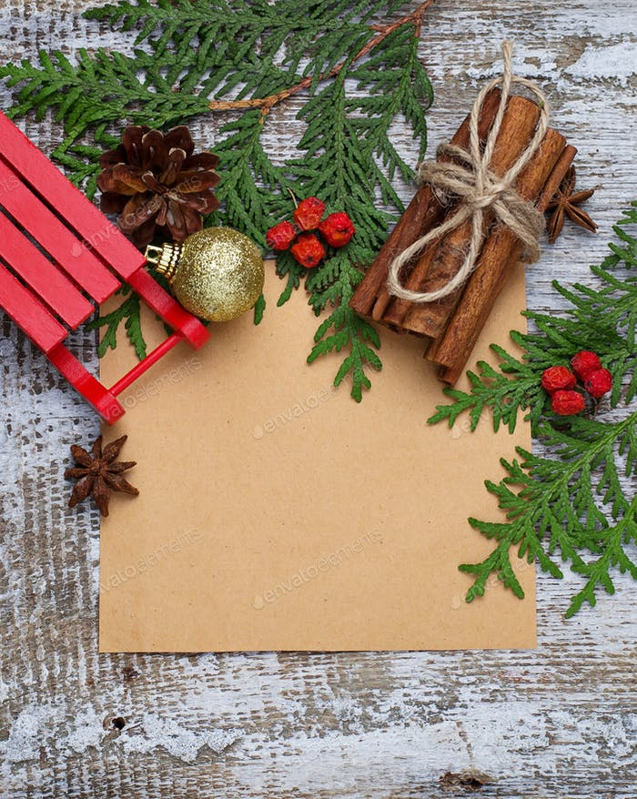 Christmas background with copy space composition