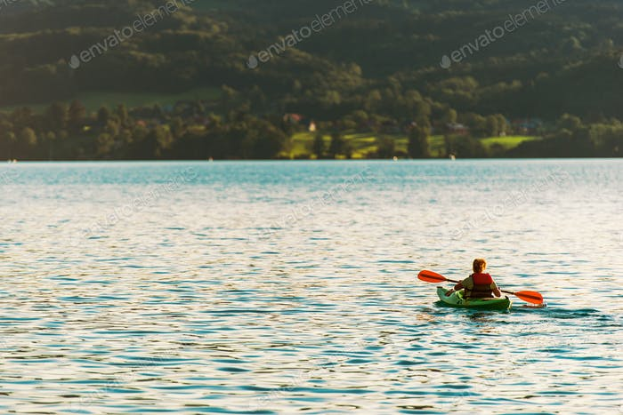 Woman in the Kayak