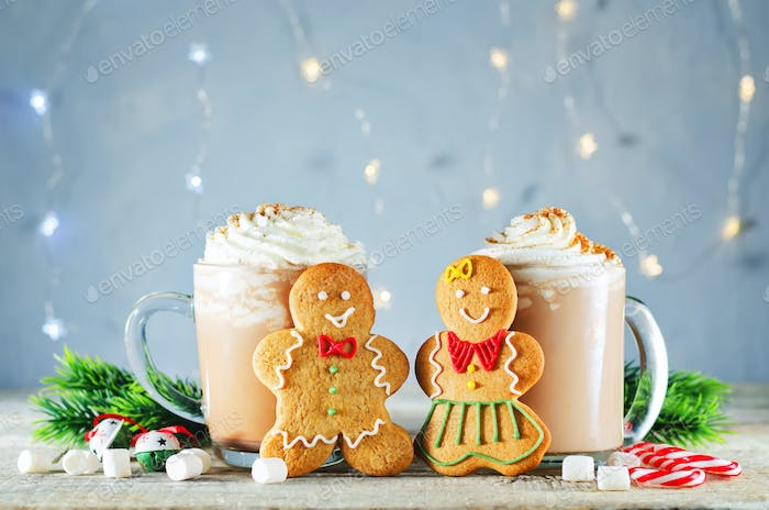 Gingerbread cookies with cocoa