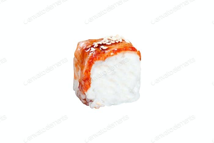 Close up shot of traditional fresh japanese sushi