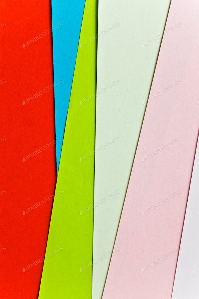 colorful sheets paper