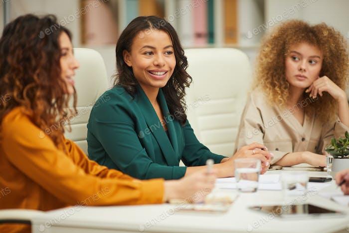 Beautiful Businesswomen Having Meeting