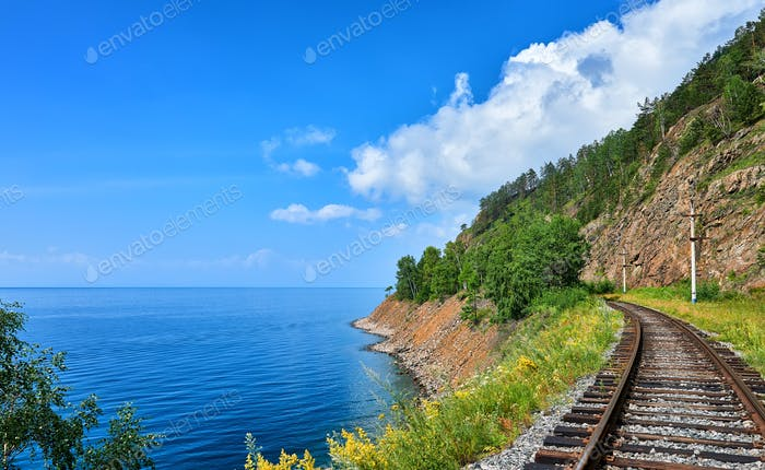 Plot Circum-Baikal railway