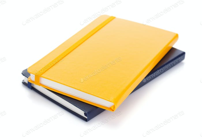 notebook or notepad isolated at white