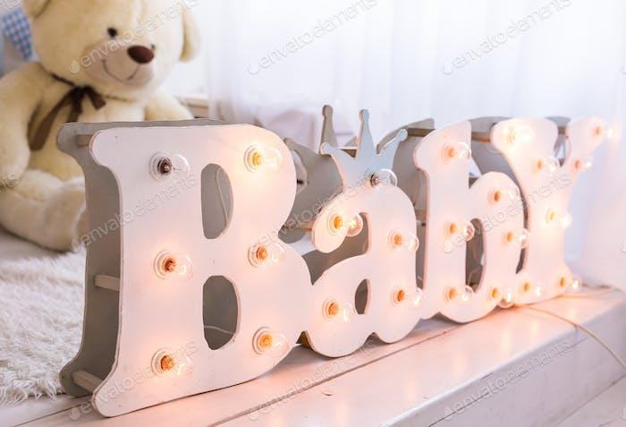 letters baby idea concept.