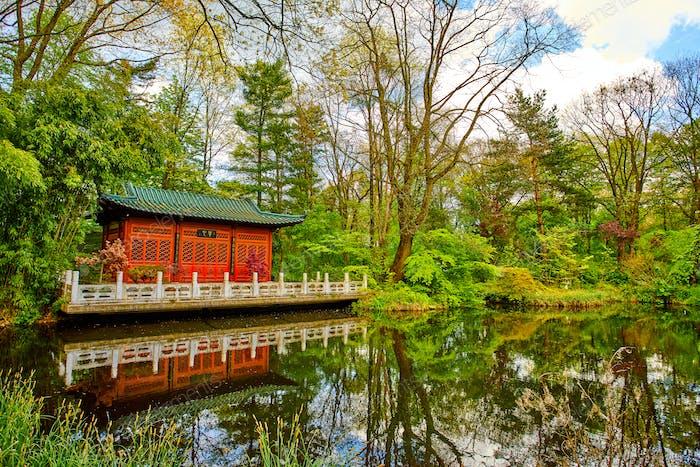 Asiatische Garten. japanischer Zen-Garten