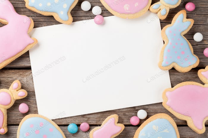 Easter gingerbread cookies