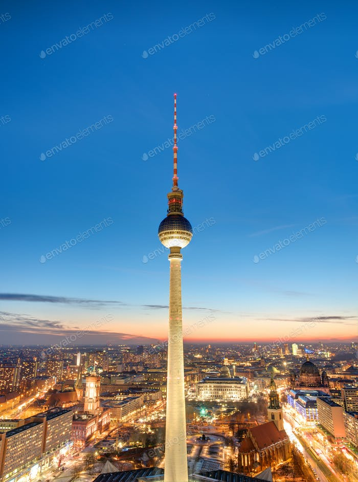 The famous Television tower at dawn
