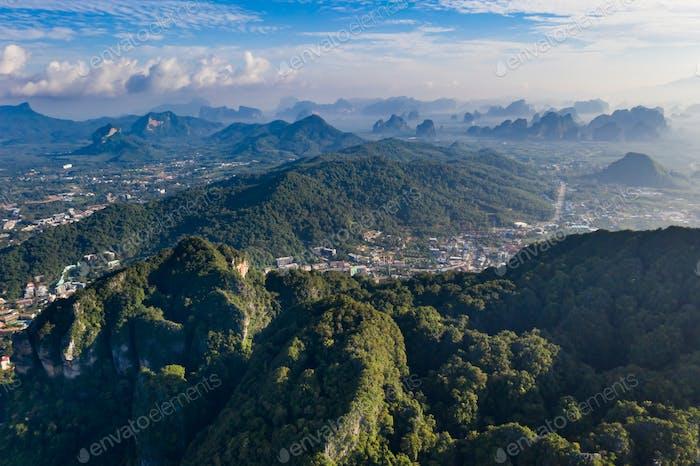 Krabi region aerial view.