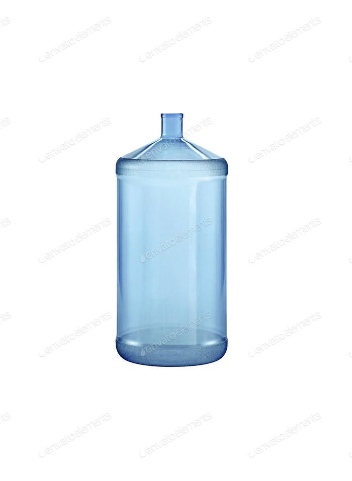 Big water bottle. On a white background.