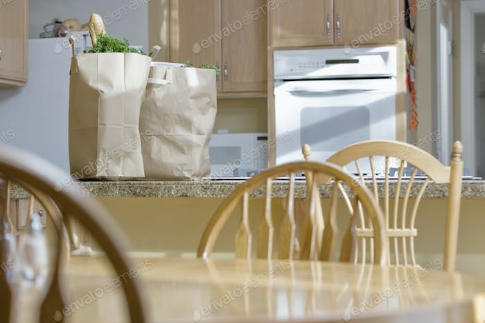 Kitchen with Groceries