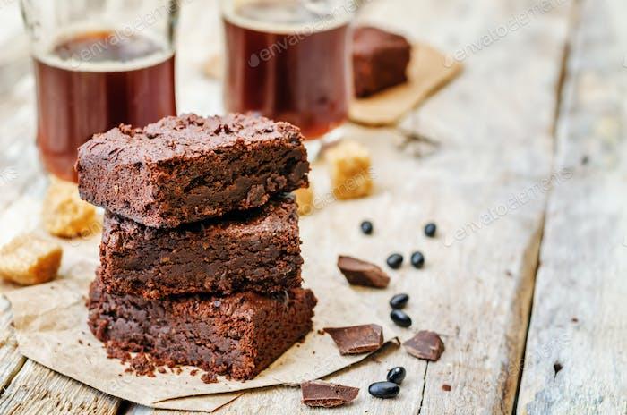 brownies de frijol negro