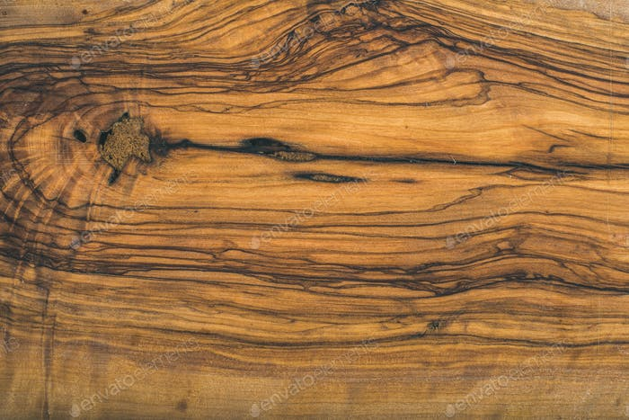 Old olive wood slab texture or background