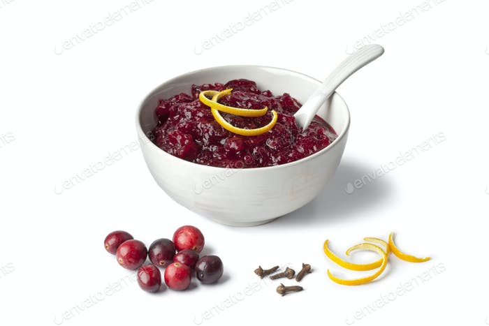 Fresh cranberry sauce with orange and cloves