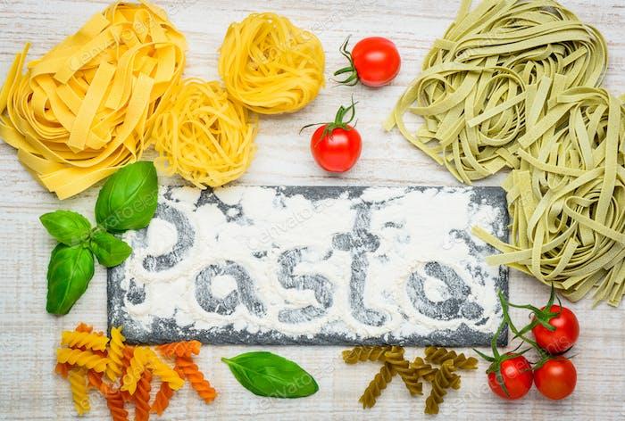 Tagliatelle and Fusilli Pasta