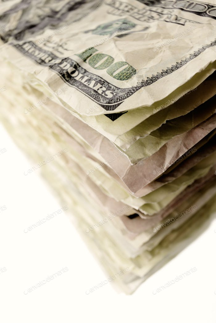 Stack of one-hundred dollar bills