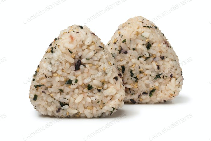 Traditional homemade Japanese onigiri