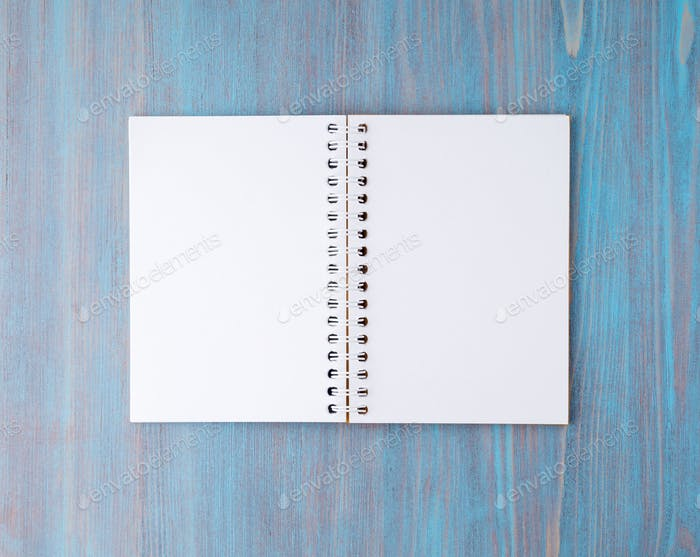 Open notebook on spring