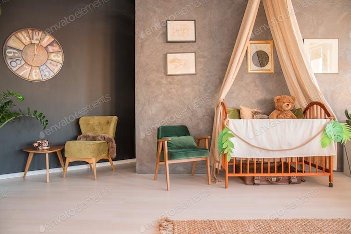 Traveller baby's room