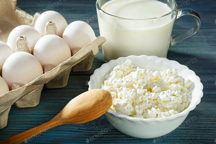 Cheese, yogurt and eggs