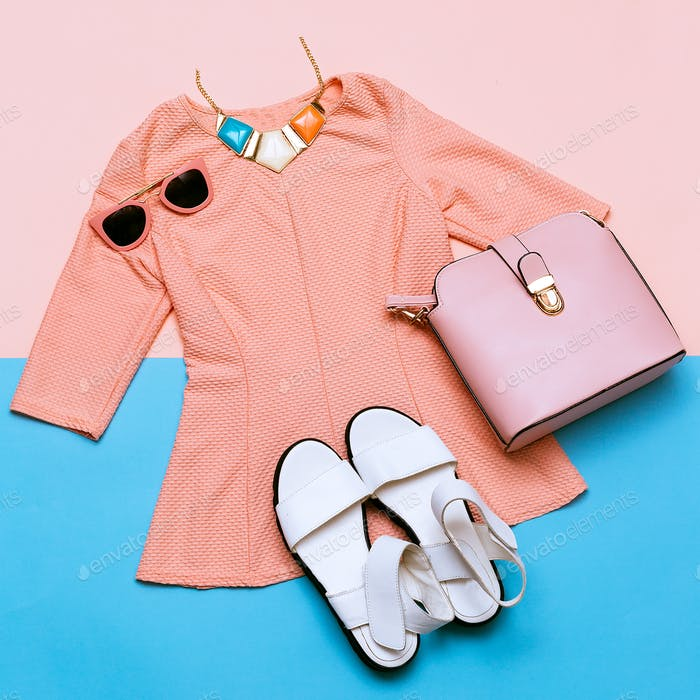 Vintage Pink Jacket for Lady. Accessories. Summer Trend