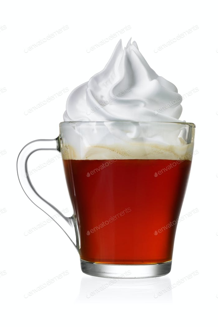 Kaffee Wien oder con panna isoliert